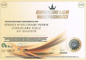 europejski certyfikat wiarygodności